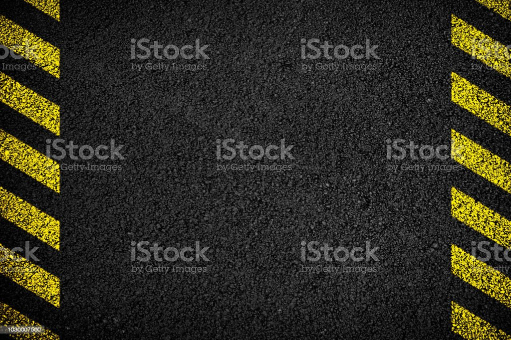 Asphalt protection walkway background stock photo