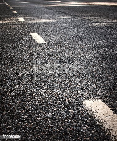 833130962 istock photo Asphalt road and dividing lines 520960969