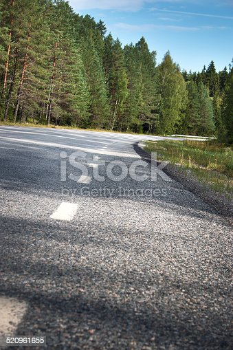 833130962 istock photo Asphalt road and dividing lines 520961655