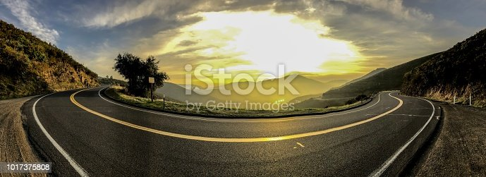 Sunset, California, Road, Mountain, Street, Panoramic