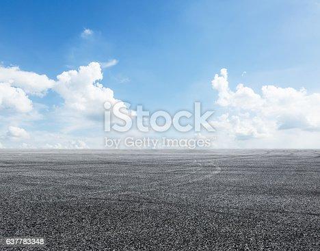 istock Asphalt road and sky 637783348