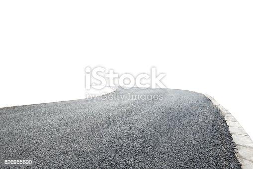 621693226istockphoto Asphalt road background texture on white background 826955690