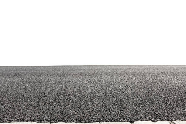 Asphalt road background texture on white background stock photo