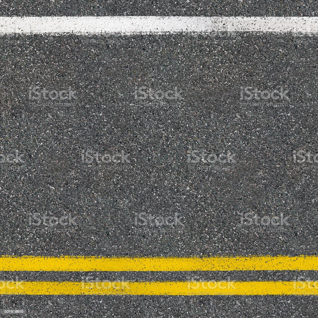 Asphalt road close up top view background stock photo
