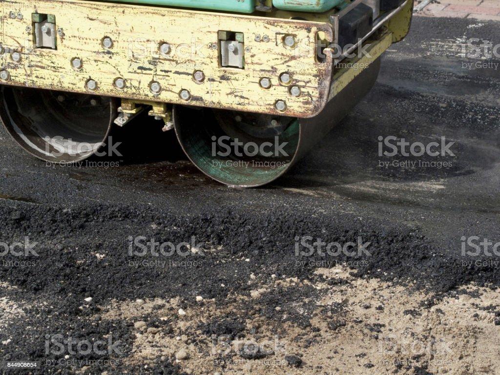 Asphalt Road Construction Stock Photo - Download Image Now