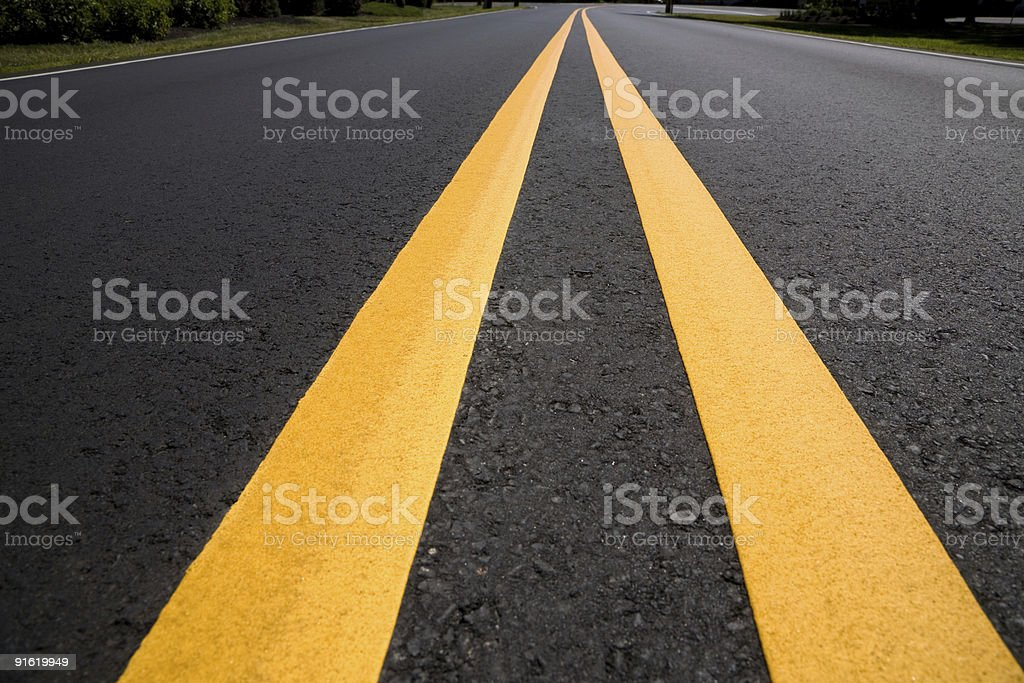 Asphalt Road Extreme Perspective royalty-free stock photo