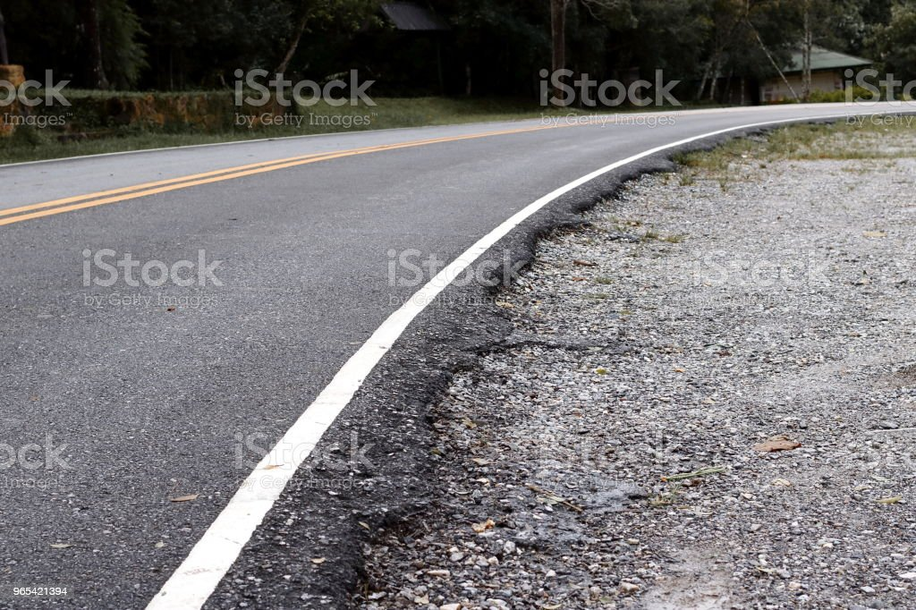 Asphalt road in countryside landscape. royalty-free stock photo