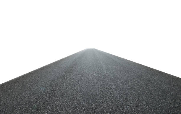 asphalt road isolated on white background Infinity center straight perspective asphalt road isolated on white background with clipping path.Straight asphalt road isolated on white background with clipping path. asphalt stock pictures, royalty-free photos & images
