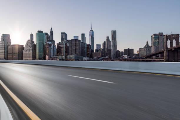 Asphalt Road of Manhattan stock photo