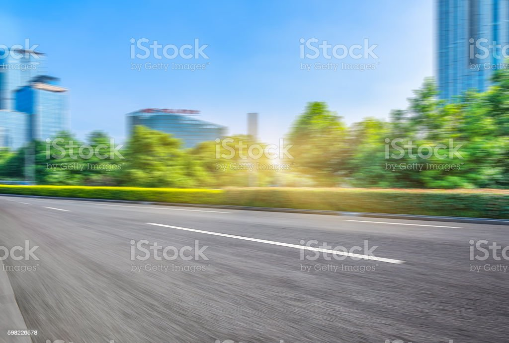 asphalt road of modern city,china foto royalty-free
