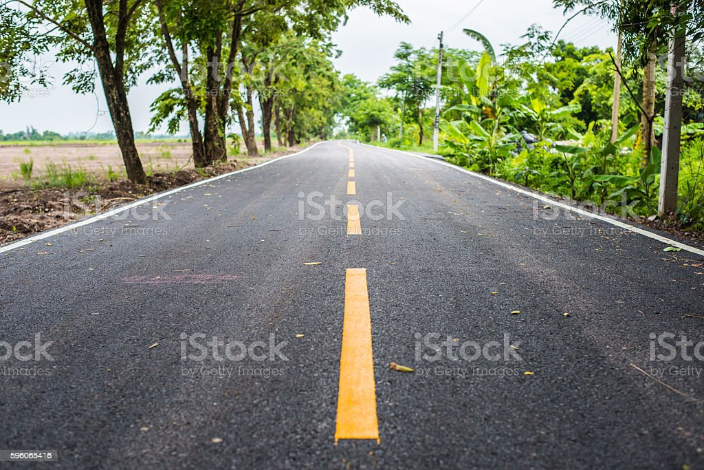 Asphalt road on countryside in thailand. royalty-free stock photo