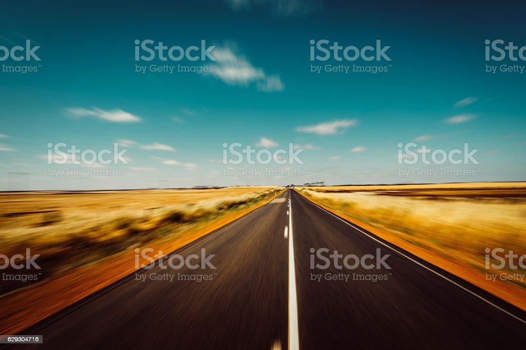 Asphalt road on Westen Australia stock photo