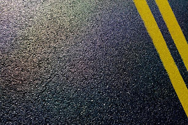 asphalt road - kaldırım stok fotoğraflar ve resimler