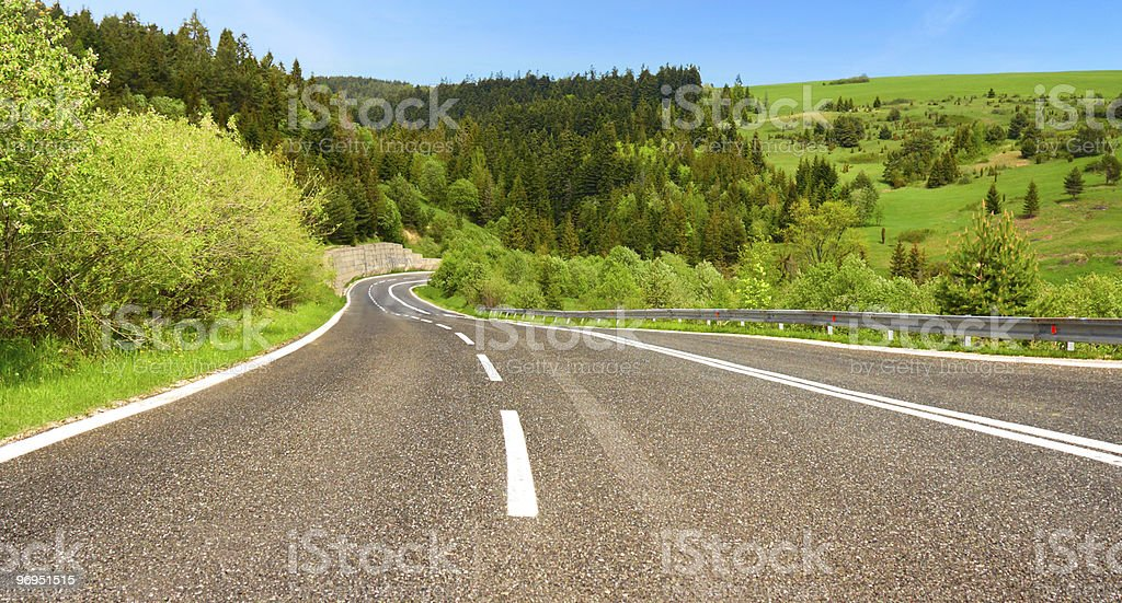 Asphalt Road royalty-free stock photo