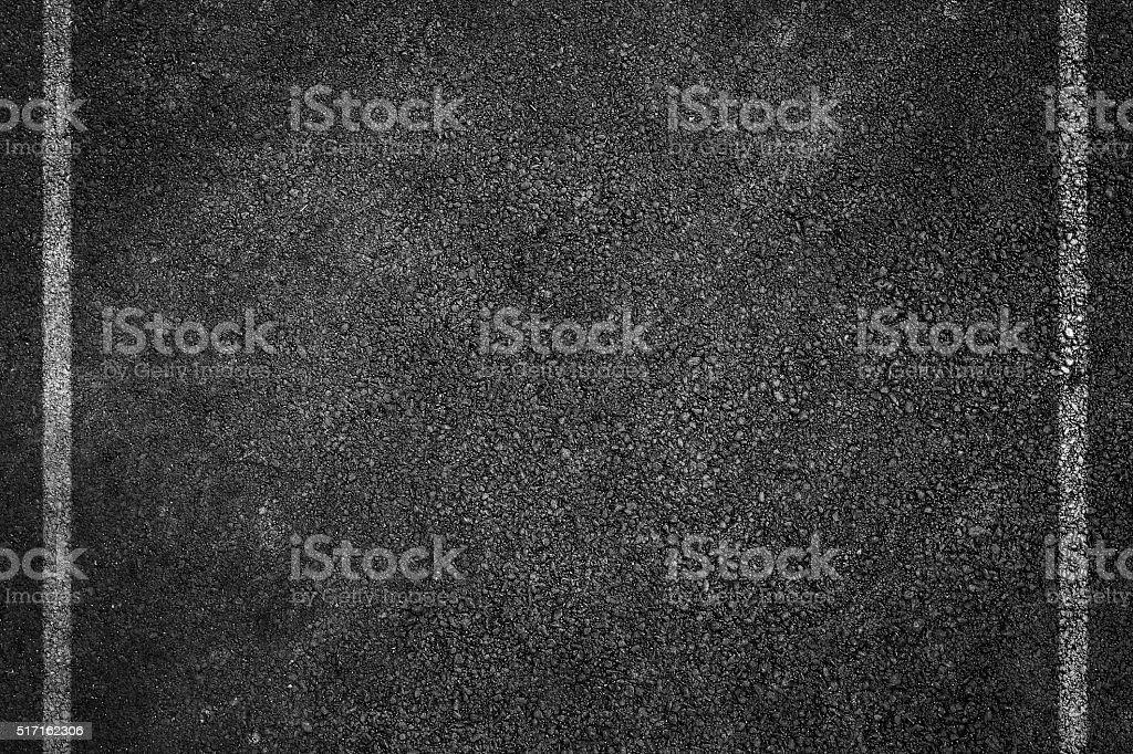 Asphalt Road Texture with White Strips stock photo