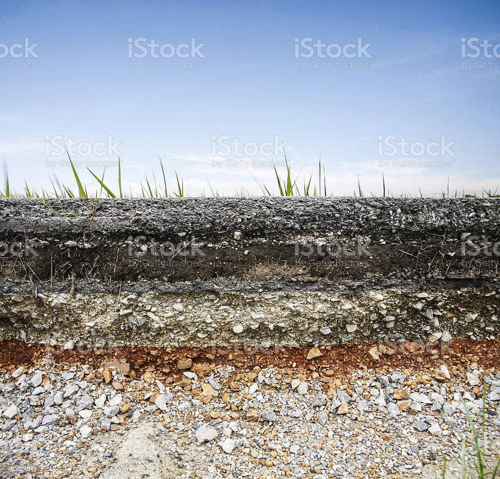 asphalt road with blue sky stock photo