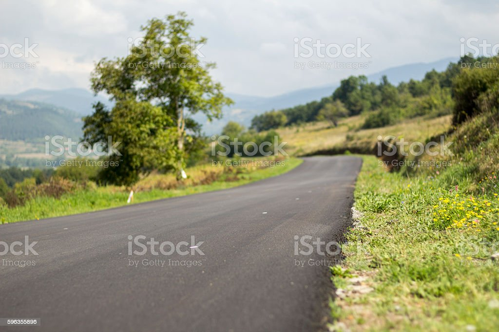 Asphalt road with sky in background. royalty-free stock photo