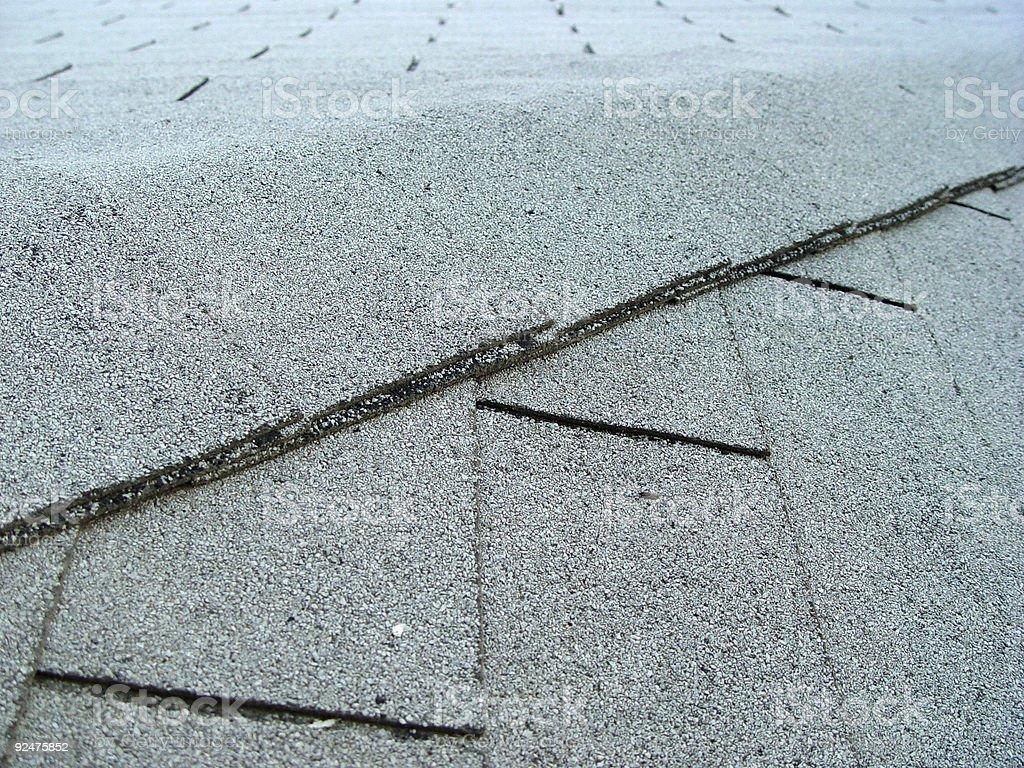 Asphalt roof tiles royalty-free stock photo