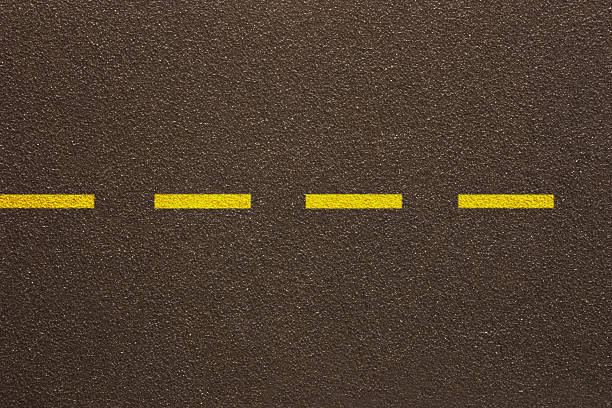 Asfalto-una línea de puntos (patrón - foto de stock