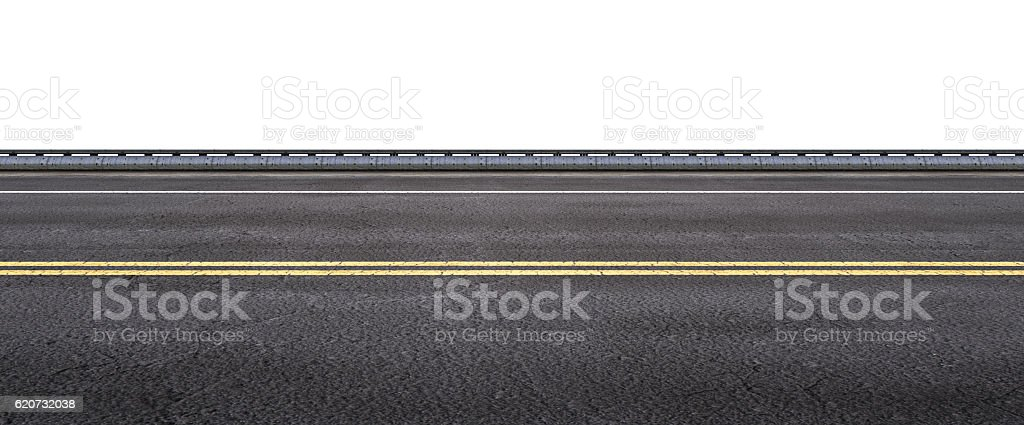 asphalt street on white background stock photo