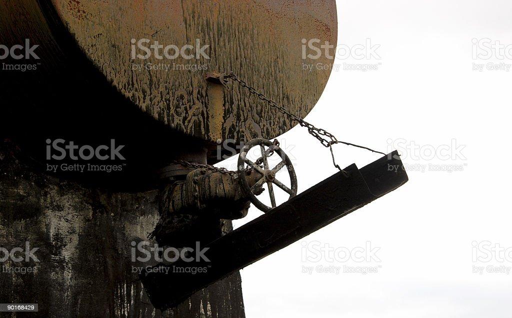 asphalt tar barrel royalty-free stock photo