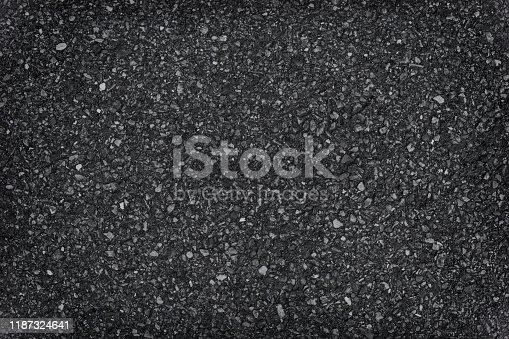 Real asphalt texture background. Coloured dark black asphalt pattern.