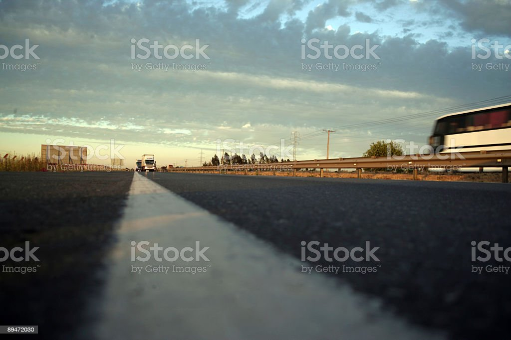 Asphalt, Trucks and Bus royalty-free stock photo