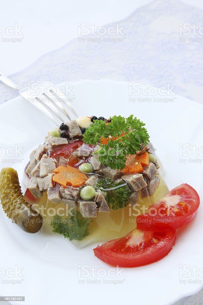 aspic and vegetables royalty-free stock photo
