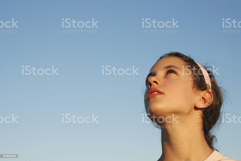 Aspirations of a child royalty-free stock photo