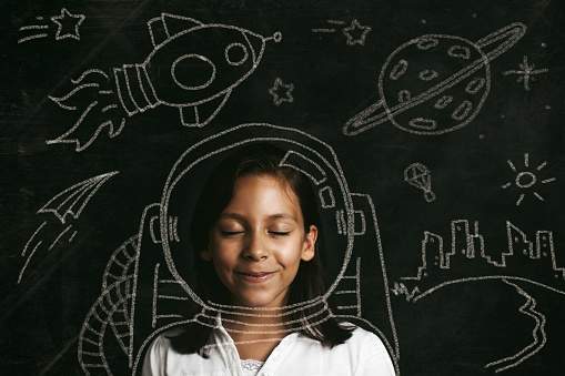 Aspirations To Be An Astronaut Stock Photo - Download Image Now