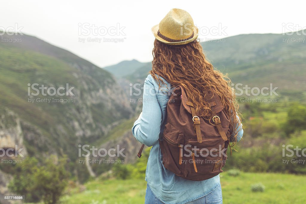Aspire to distant places stock photo