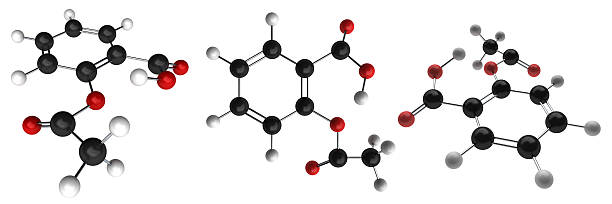 Aspirin Acetylsalicylic Acid Molecule Aspirin Acetylsalicylic Acid molecule. acetylsalicylic stock pictures, royalty-free photos & images