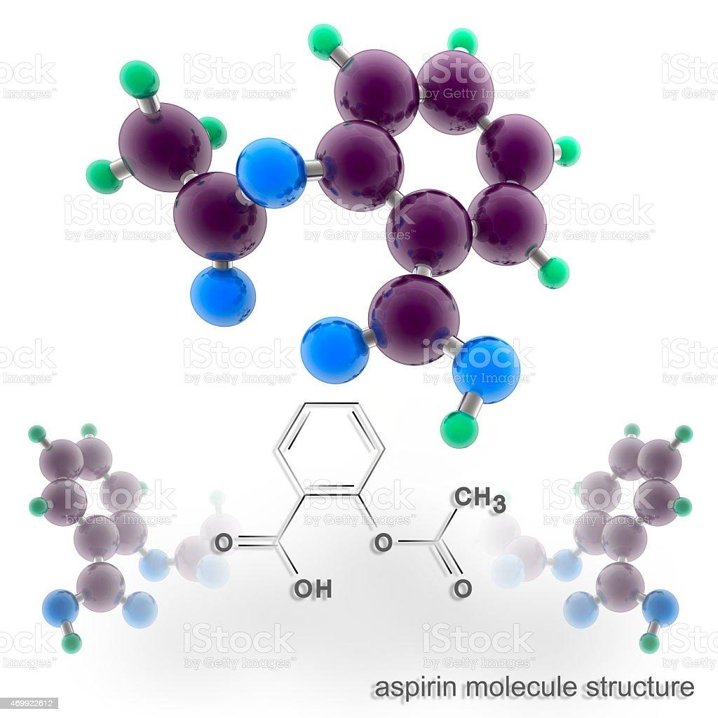 Aspirin molecule structure stock photo