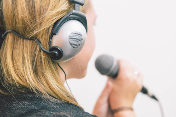 aspiring singer - diction stock pictures, royalty-free photos & images