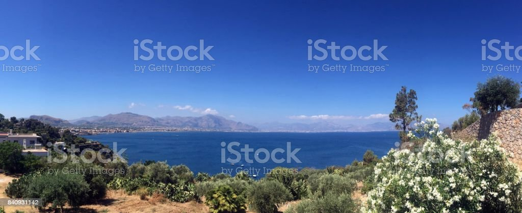 Aspra, coastline view stock photo