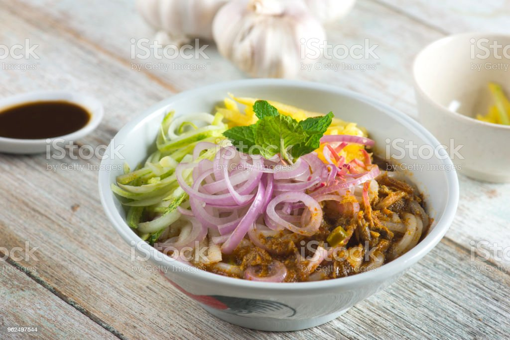 Comida de Assam Laksa penang - Foto de stock de Almoço royalty-free