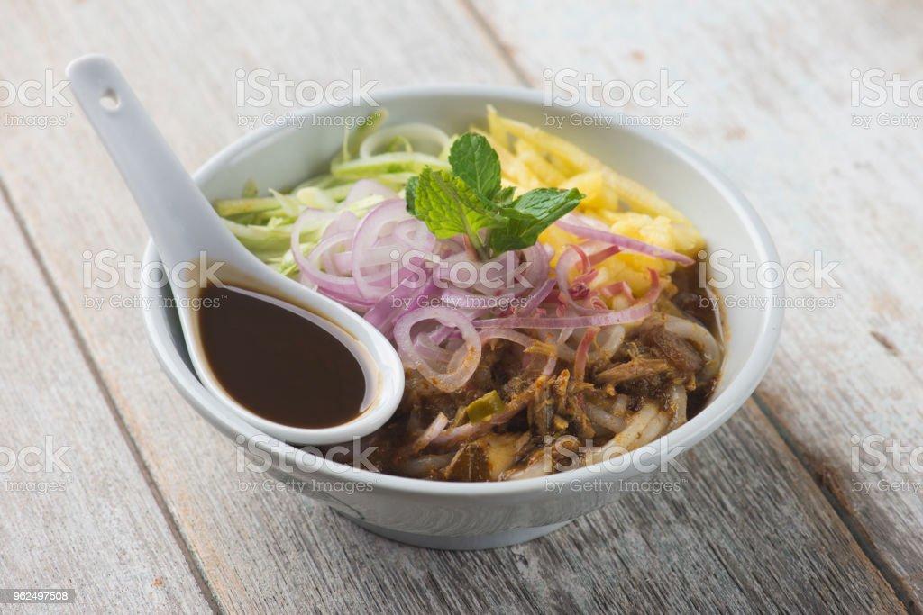 Assam Laksa (cachola em molho picante de peixe) - Foto de stock de Almoço royalty-free