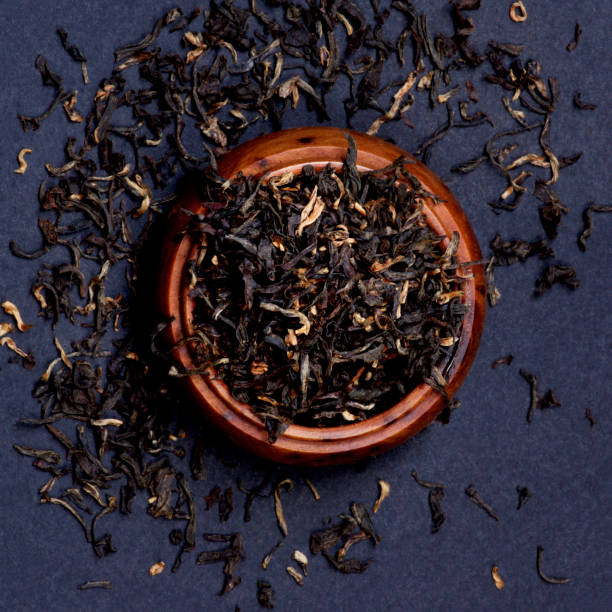 Assam Tea Leafs stock photo