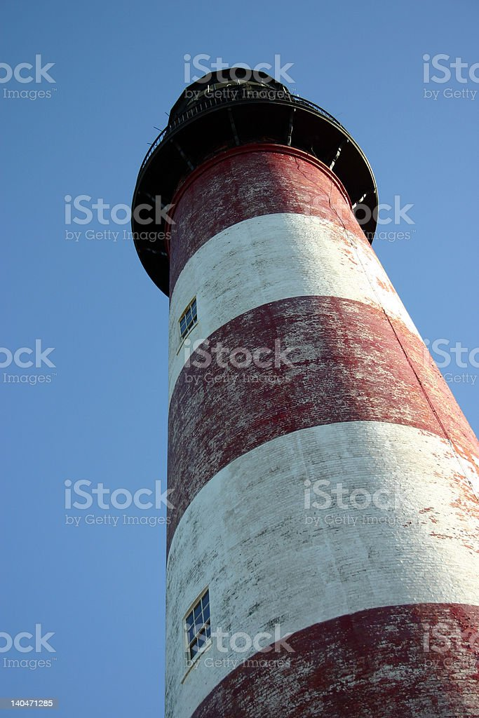 Assateague Lighthouse in the Summer royalty-free stock photo