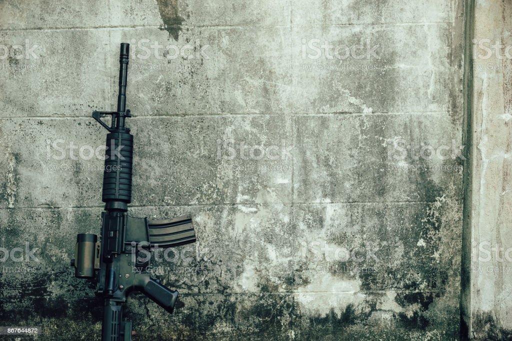 Assault rifle. M-16. stock photo