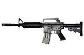 istock Assault rifle on white background 917198952