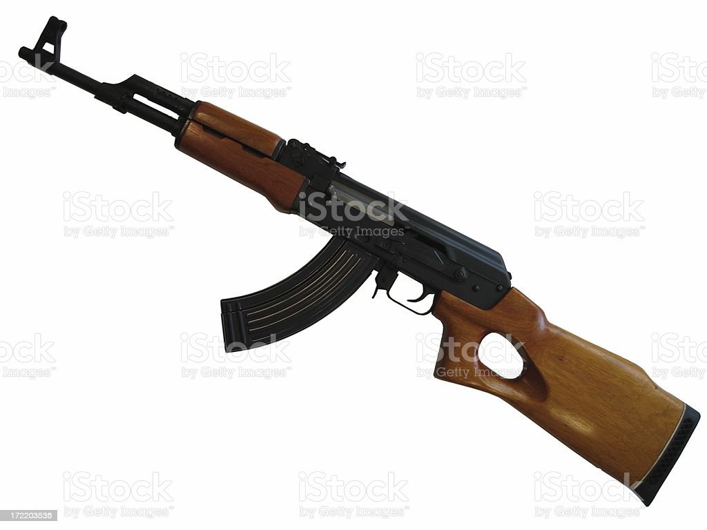 AK-47 Assault Rifle royalty-free stock photo