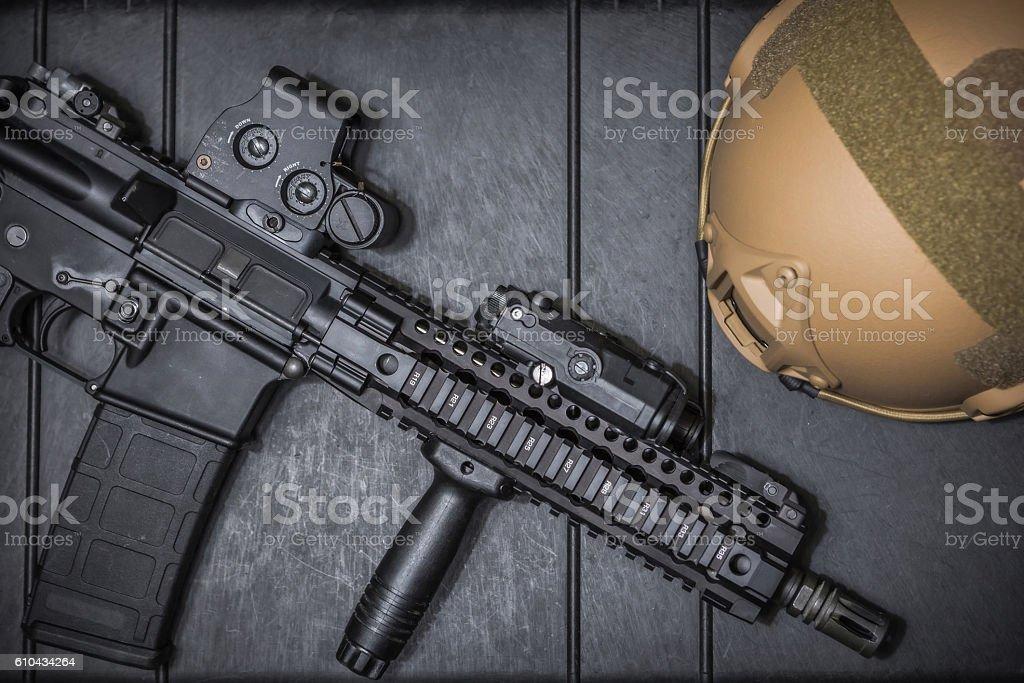 assault rifle stock photo