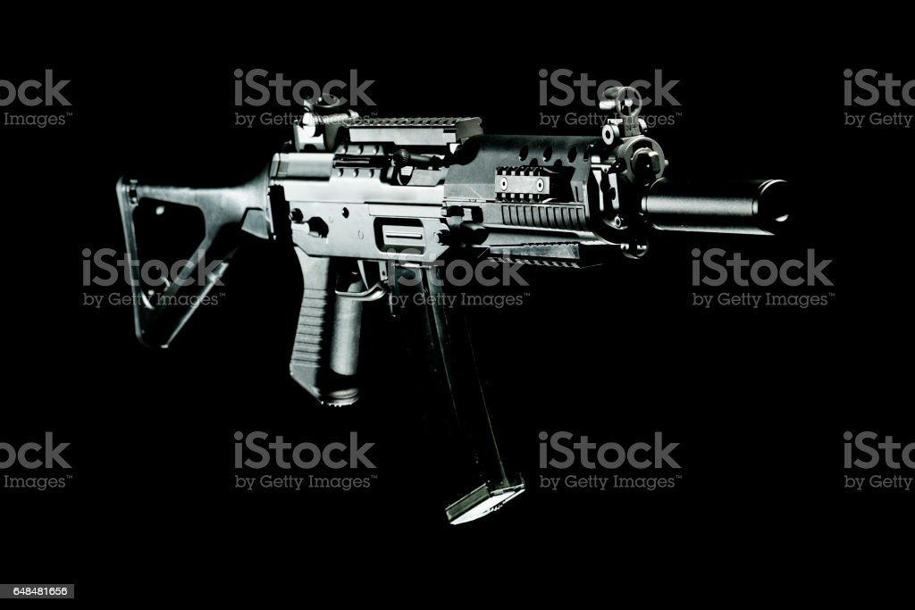 Assault rifle stock photo