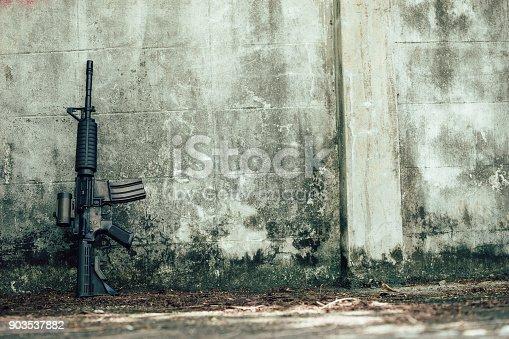 istock Assault rifle. 903537882