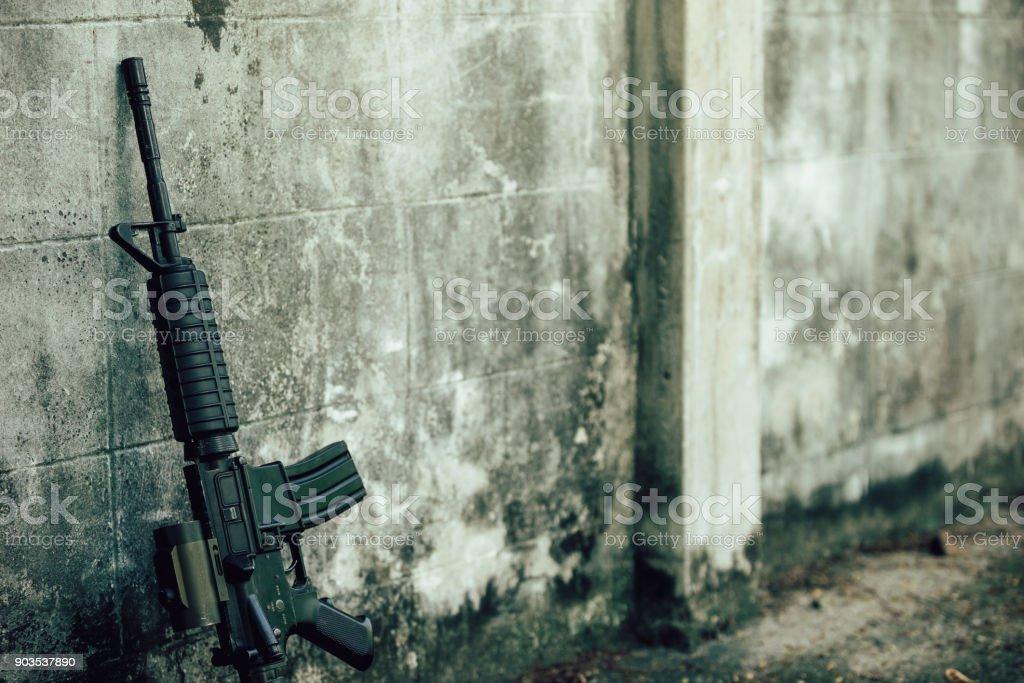 Assault rifle. stock photo