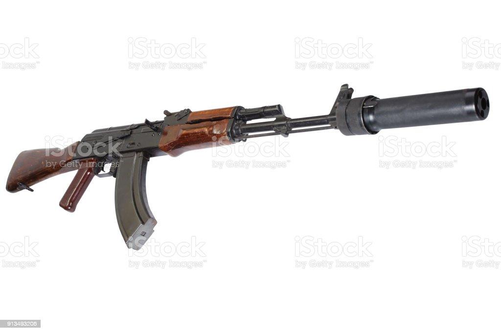 Ak47 Sturmgewehr Mit Sound Suppressor Stock-Fotografie und mehr ...
