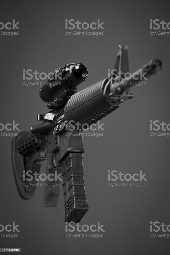 AR-15 Assault Weapon royalty-free stock photo