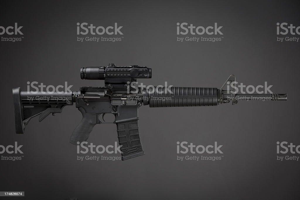 AR-15 Assault Weapon stock photo