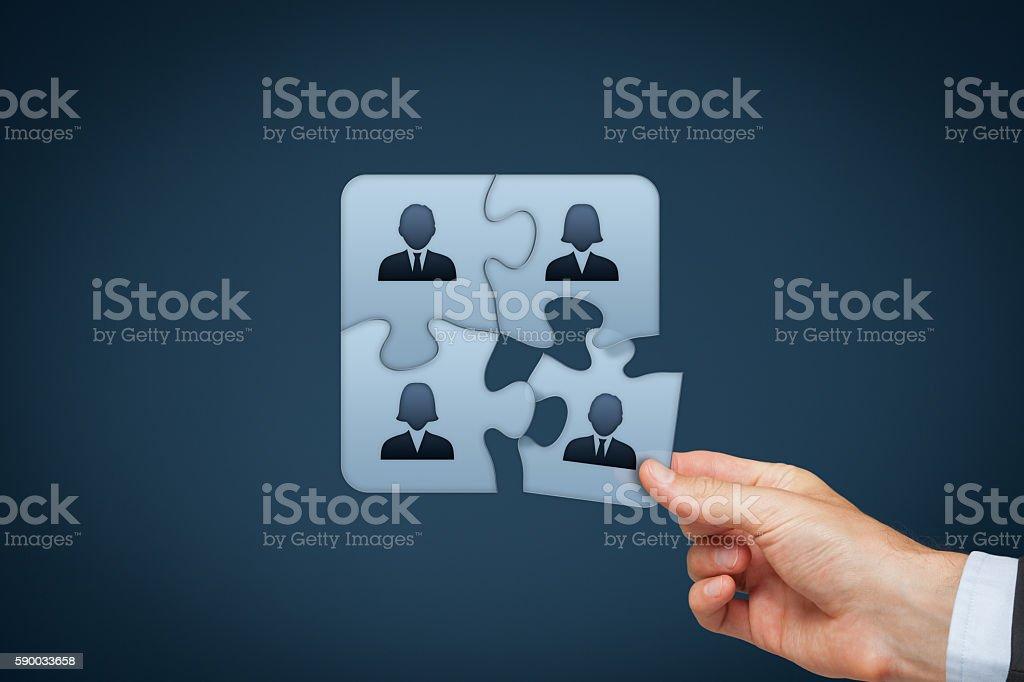 Assemble a team stock photo